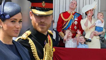Brytyjska rodzina królewska na urodzinach królowej Elżbiety