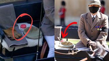 Tajemnicze pudełko z czerwonym wieczkiem na pogrzebie księcia Filipa. Już wiadomo, co w nim było