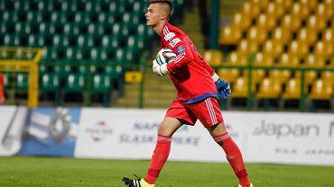 Mateusz Kuchta w meczu GKS - MKS Kluczbork 5:1
