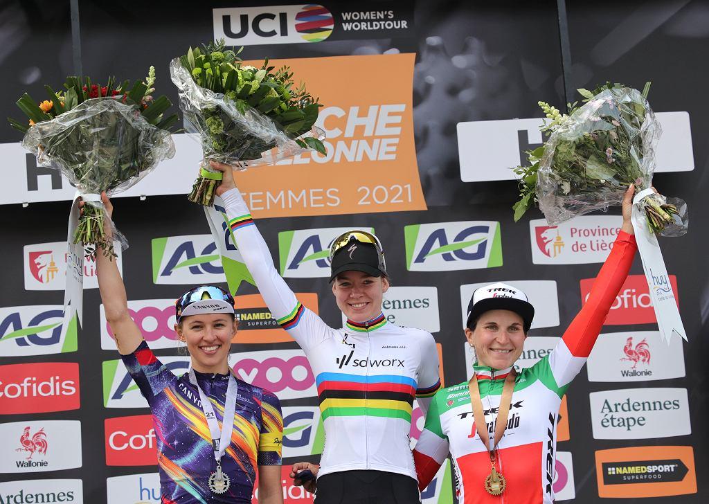 Katarzyna Niewiadoma po zajęciu drugiego miejsca w Strzale Walońskiej 2021