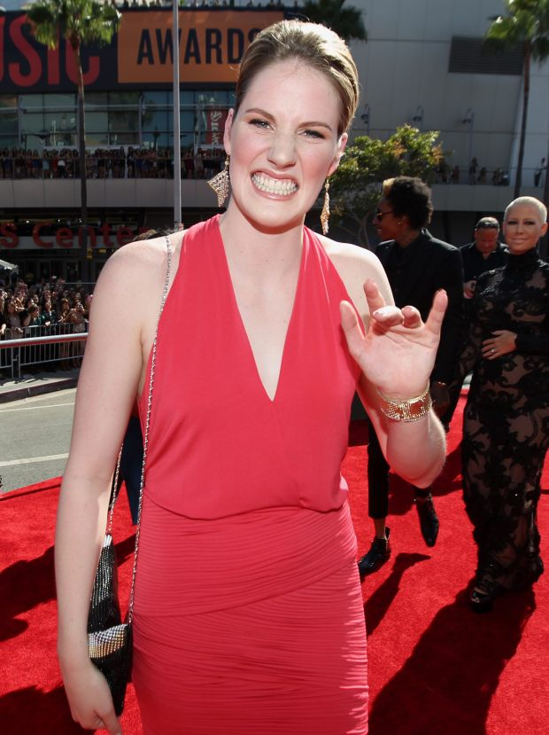 Olympic swimmer Missy Franklin arrives at the MTV Video Music Awards on Thursday, Sept. 6, 2012, in Los Angeles. (Photo by Matt Sayles/Invision/AP)