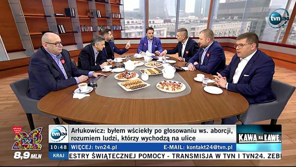 'Kawa na ławę' w TVN24