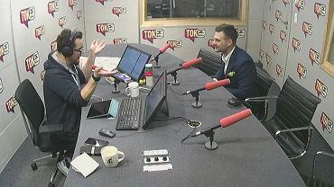 Piotr Maślak i Lech Kaniuk w studiu TOK FM.