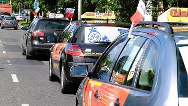 Protest taksowkarzy