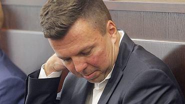Marek Falenta podczas rozprawy w sprawie 'afery podsłuchowej', 27.07.2016