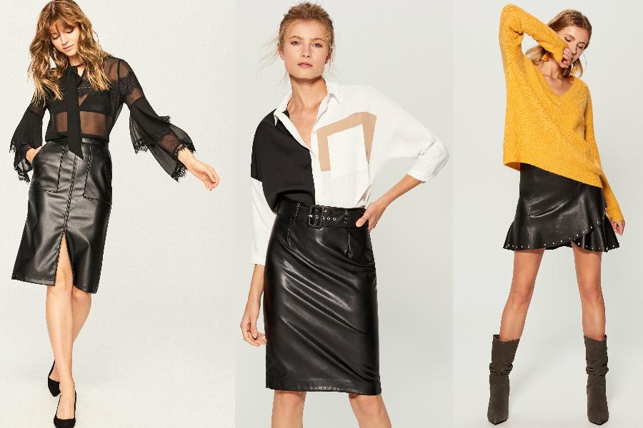 Skórzane spódnice do jesiennych stylizacji