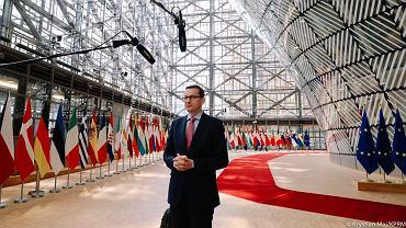 Premier Mateusz Morawiecki podczas szczytu UE