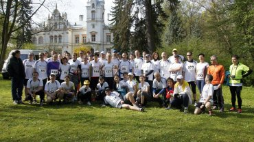 Półmaraton Przytok 2014 - Drużyna Gazety Wyborczej i przyjaciele - przed startem