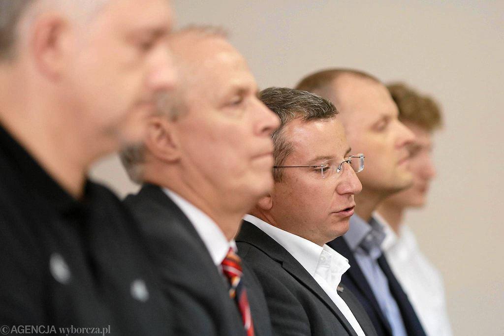 Podpisanie umowy sponsorskiej pomiędzy KS Norwid Częstochowa a firmą Exact Systems.