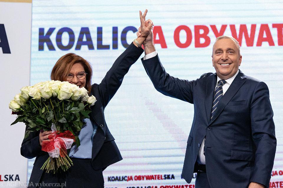 Wybory parlamentarne 2019. Małgorzata Kidawa-Błońska i Grzegorz Schetyna