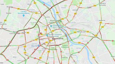 Wypadek na S8. Karambol na moście Grota w Warszawie
