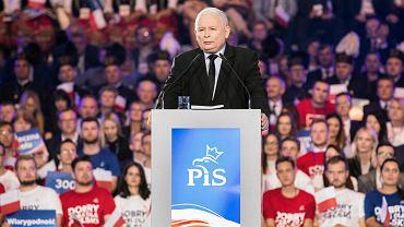 Lublin. Konwencja programowa PiS. Przemawia prezes Jarosław Kaczyński