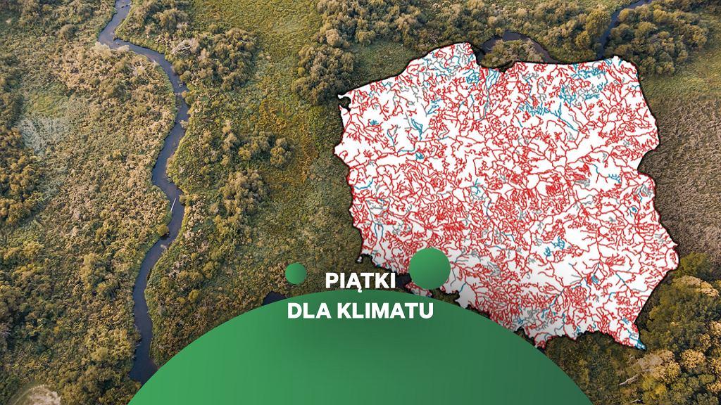 Stan wód rzecznych w Polsce.