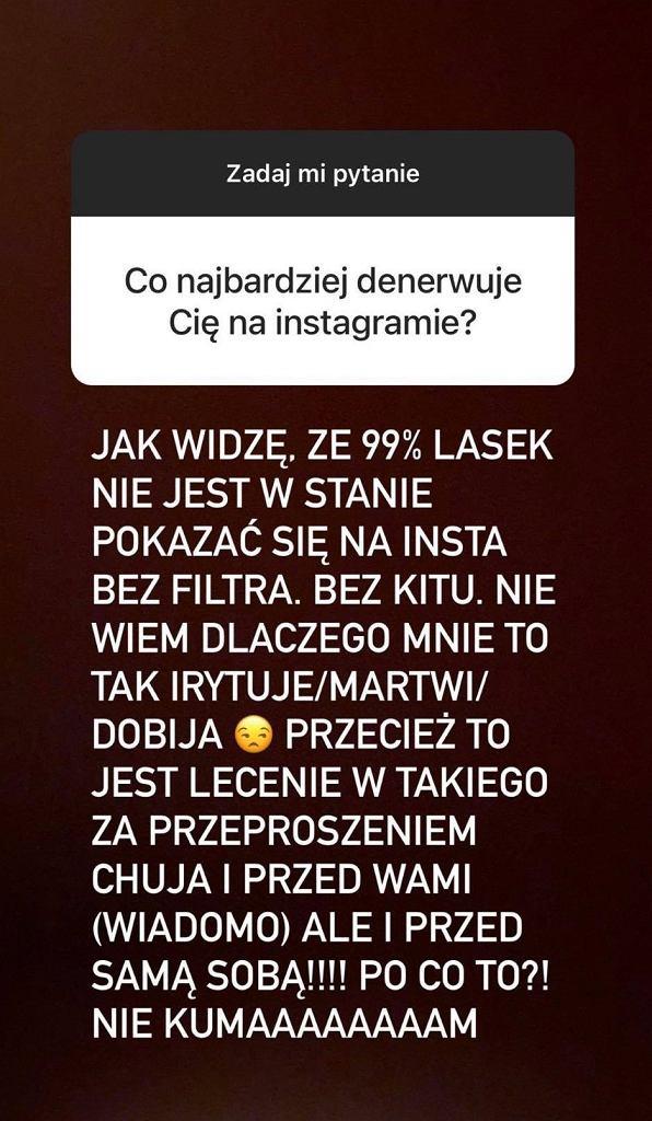 Zosia Zborowska szczerze o tym, co najbardziej denerwuje ją na Instagramie