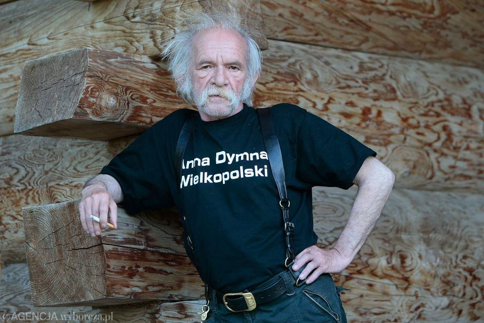 Bohdan Smoleń w swojej podmiejskiej posiadłości, 30.07.2009