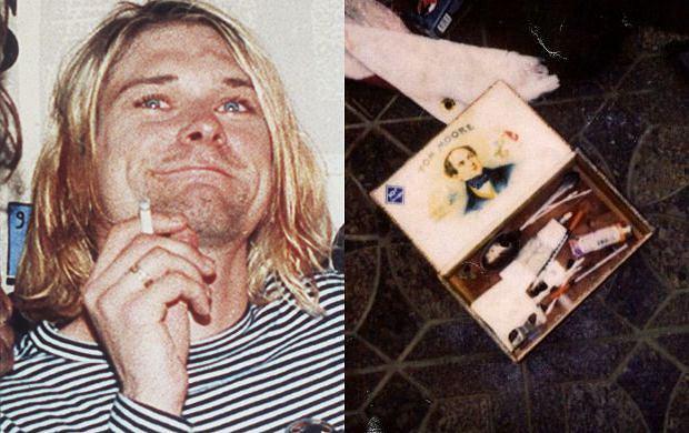Kurt Cobain, rzeczy znalezione w miejscu śmierci