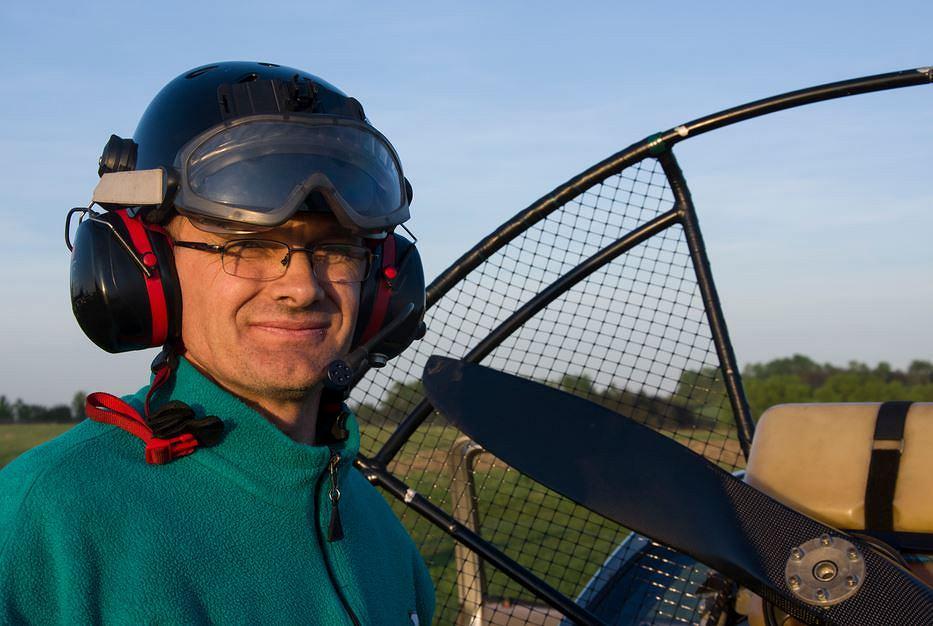 Paweł Turek, motoparalotniarz z Jaworzna