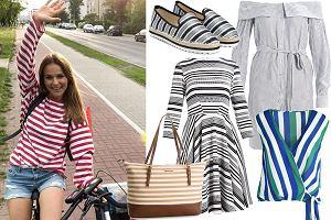 Kolaż, ubrania w paski/Materiały partnera/www.instagram.com/paulinasykutjezyna/