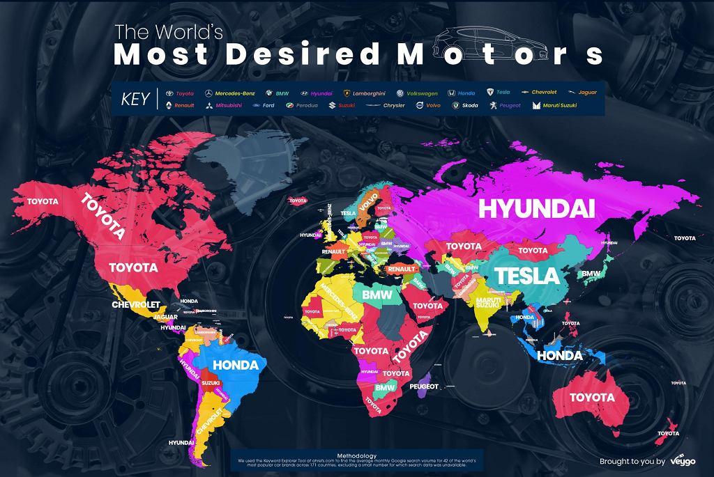 Najczęściej wyszukiwane marki motoryzacyjne w 2018 roku