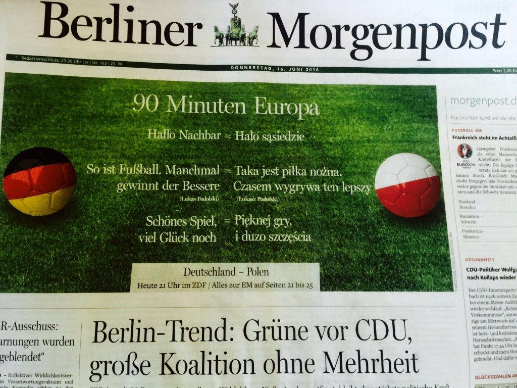 Okładka Berliner Morgenpost