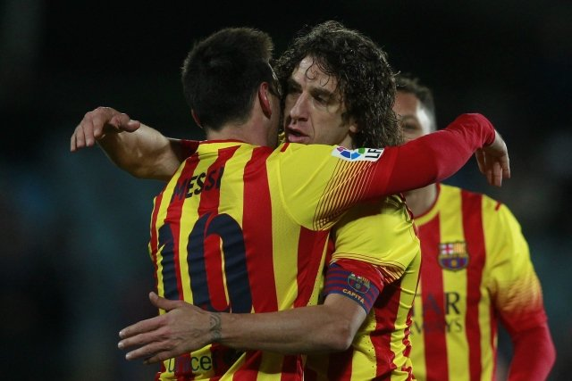 Radość po golu Messiego