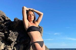 Katarzyna Glinka pozuje w bikini. Internautka: Nie przystoi tak matce małego dziecka