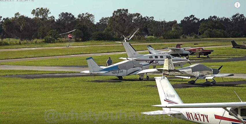 Kolizja w powietrzu. Zderzyły się lekki samolot Piper Cherokee i helikopter Robinson R22. W efekcie samolot stracił część skrzydła i się rozbił. Do wypadku doszło na Florydzie w 2017 r.