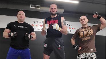 Marcin Gortat na treningu MMA