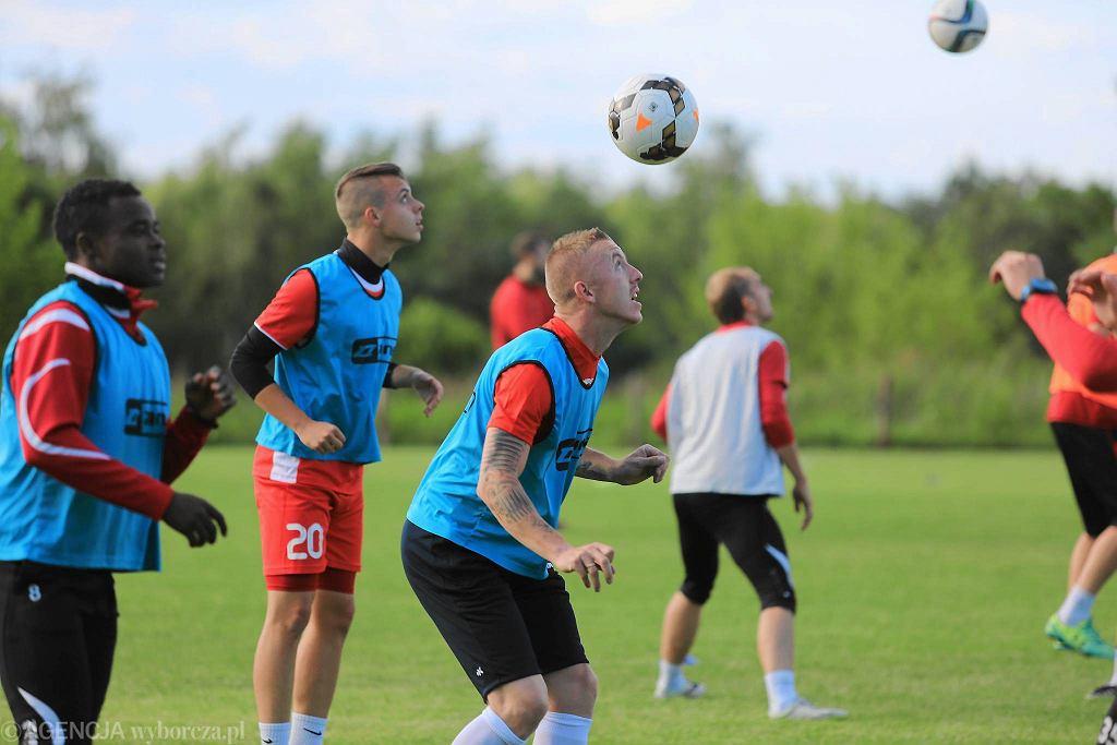 Pierwszy trening piłkarzy Widzewa