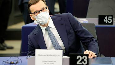 Mateusz Morawiecki w Parlamencie Europejskim, Strasbourg 19.10.2021