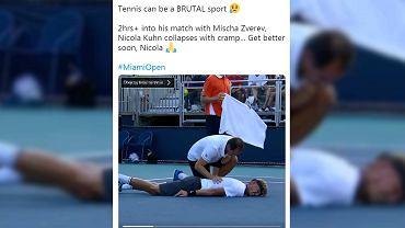Nicola Kuhn podczas turnieju ATP Masters 1000 w Miami