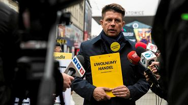Ryszard Petru w Katowicach zbierał podpisy w sprawie zniesienia zakazu handlu w niedziele