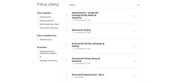Oferty pracy dostępne są na stronie Park of Poland