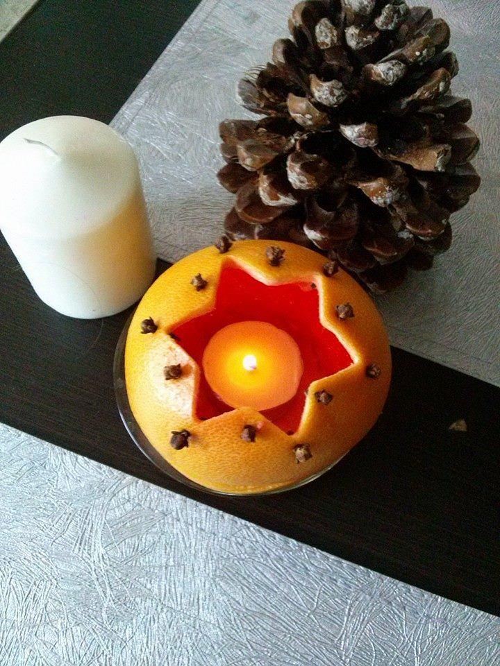 Lampion z pomarańczy - pachnie obłędnie