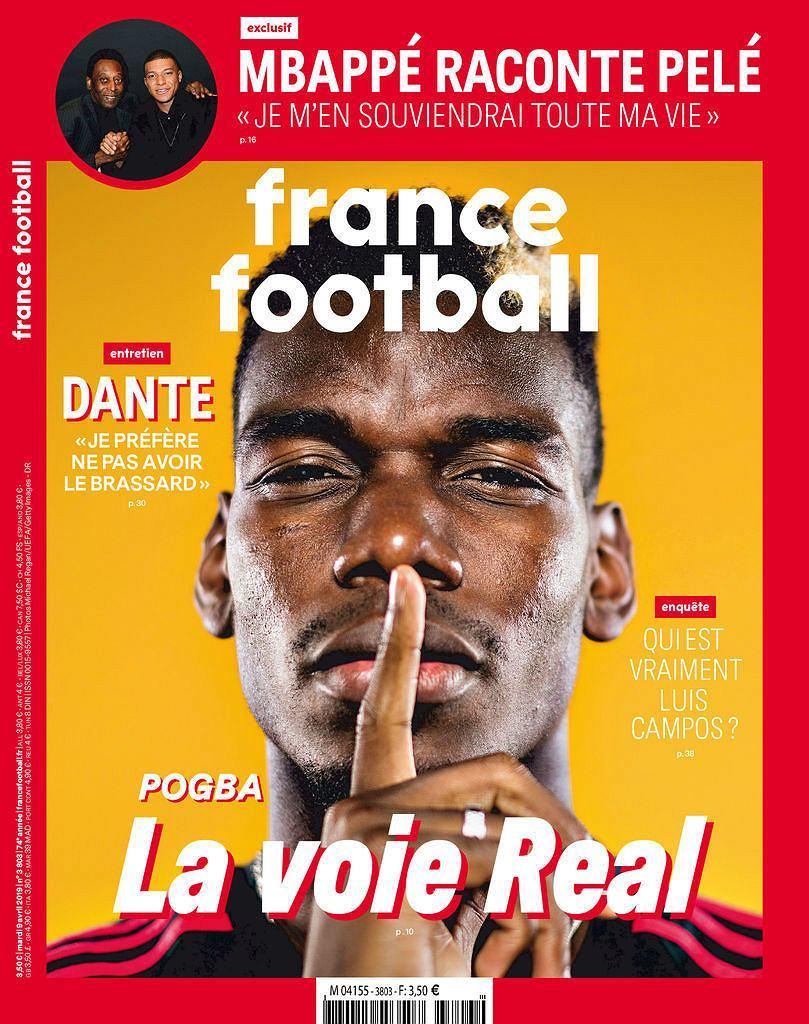 'Pogba, droga do Realu' - okładka 'France Football'