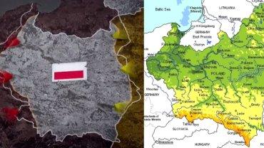 Mapa Polski w 1939 roku w wersji filmowej i w rzeczywistości