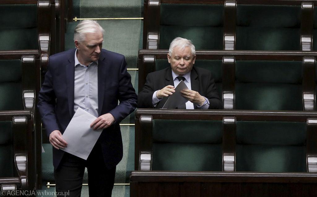 Jarosław Gowin i Jarosław Kaczyński.