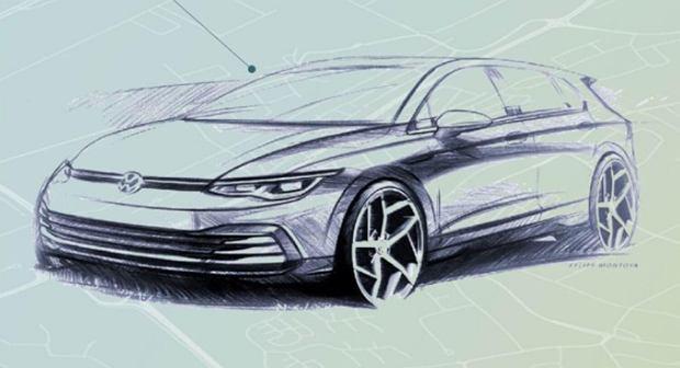 Szkic Volkswagena Golfa 8. generacji