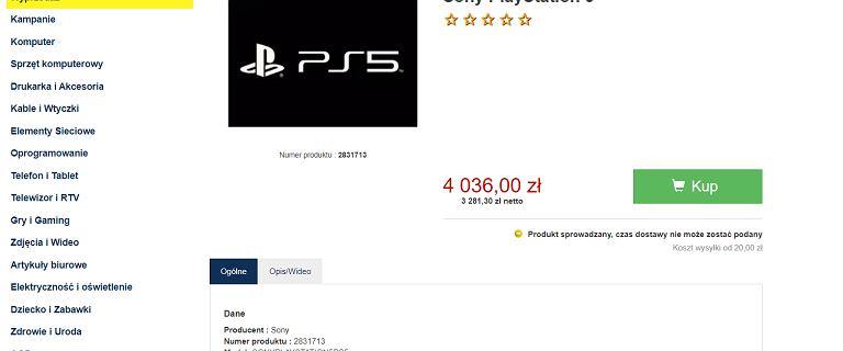 Pierwszy sklep w Polsce umieścił PS 5 w przedsprzedaży. Cena? Ponad 4 tys. zł