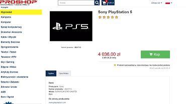 PlayStation 5 w ofercie Proshop