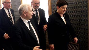 Jarosław Kaczyński, Beata Szydło i Antoni Macierewicz