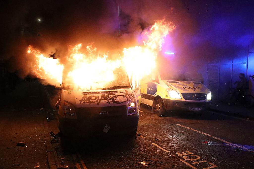 Protest w Bristolu