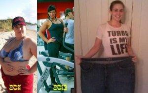 Utrata wagi, przed i po.