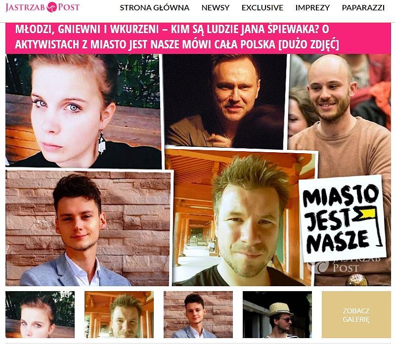 Artykuł o Miasto Jest Nasze na Jastrzabpost.pl