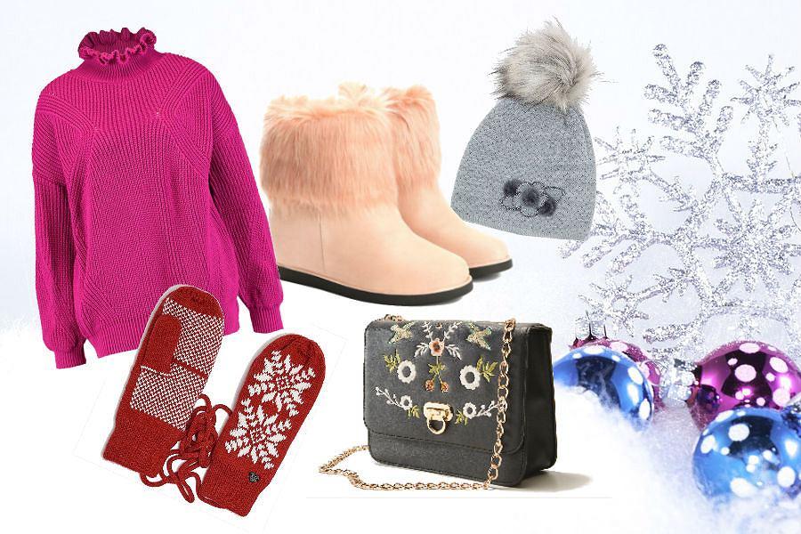 ubrania i dodatki na zimę