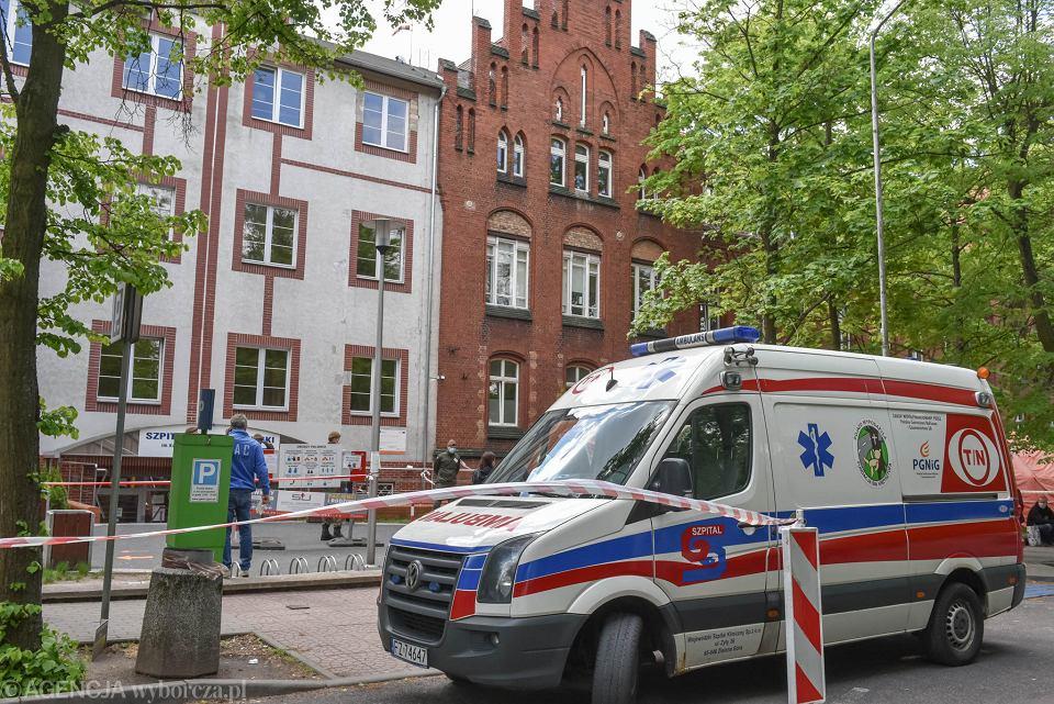 Koronawirus. Szpital w Zielonej Górze. Zdjęcie ilustracyjne