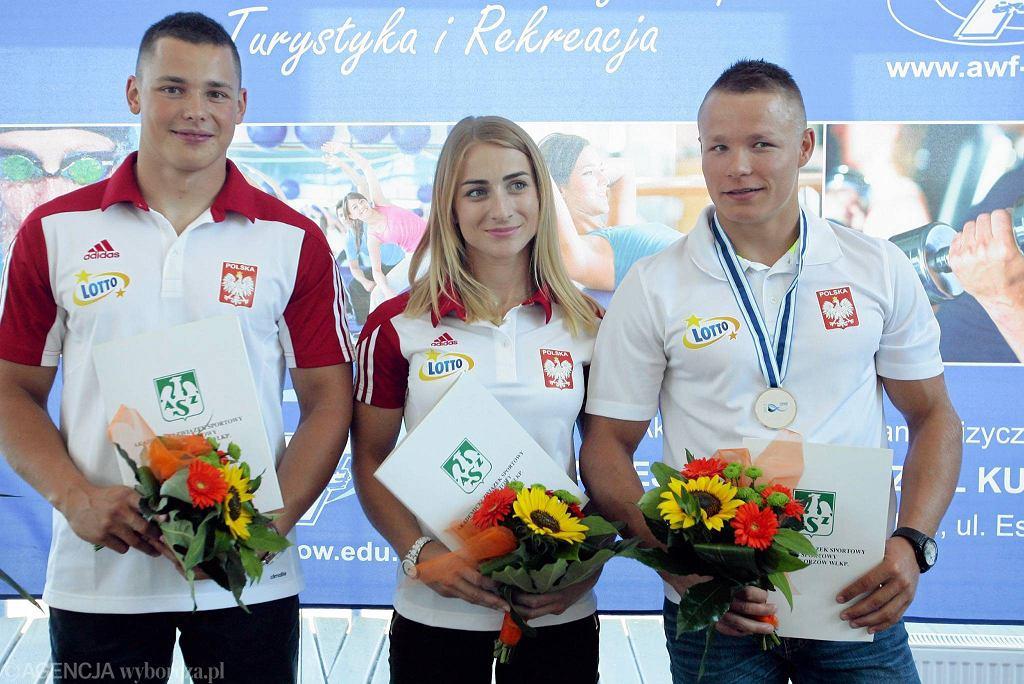 Od lewej: Paweł Kaczmarek, Karolina Naja i Wiktor Głazunow