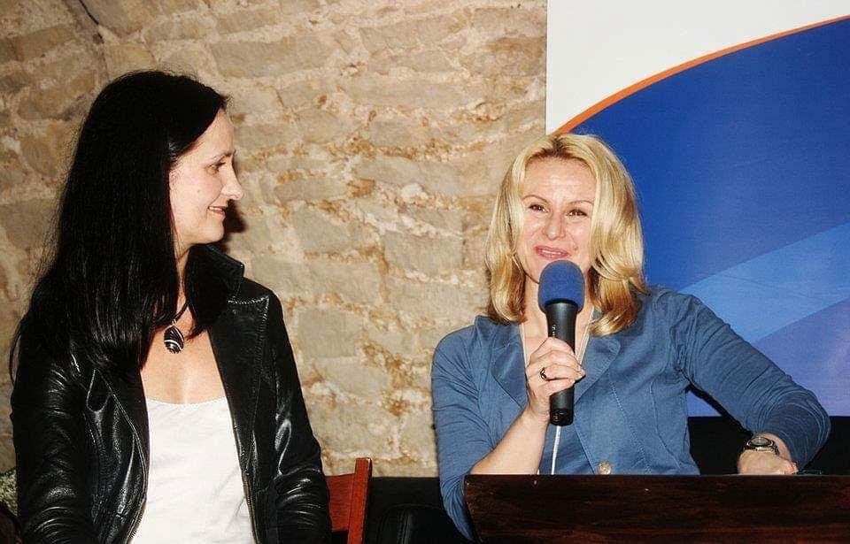 Beata Nowak (z lewej) z autorką tekstu Katarzyną Michalak