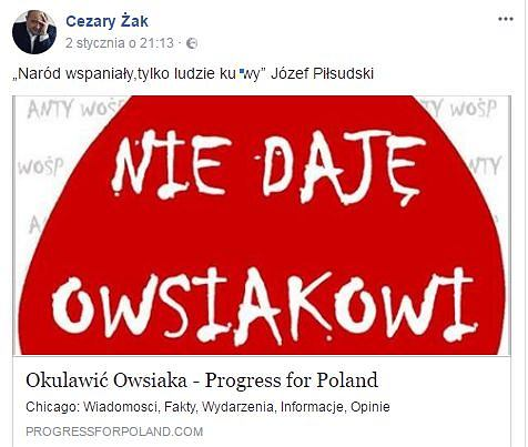 Post Cezarego Żaka