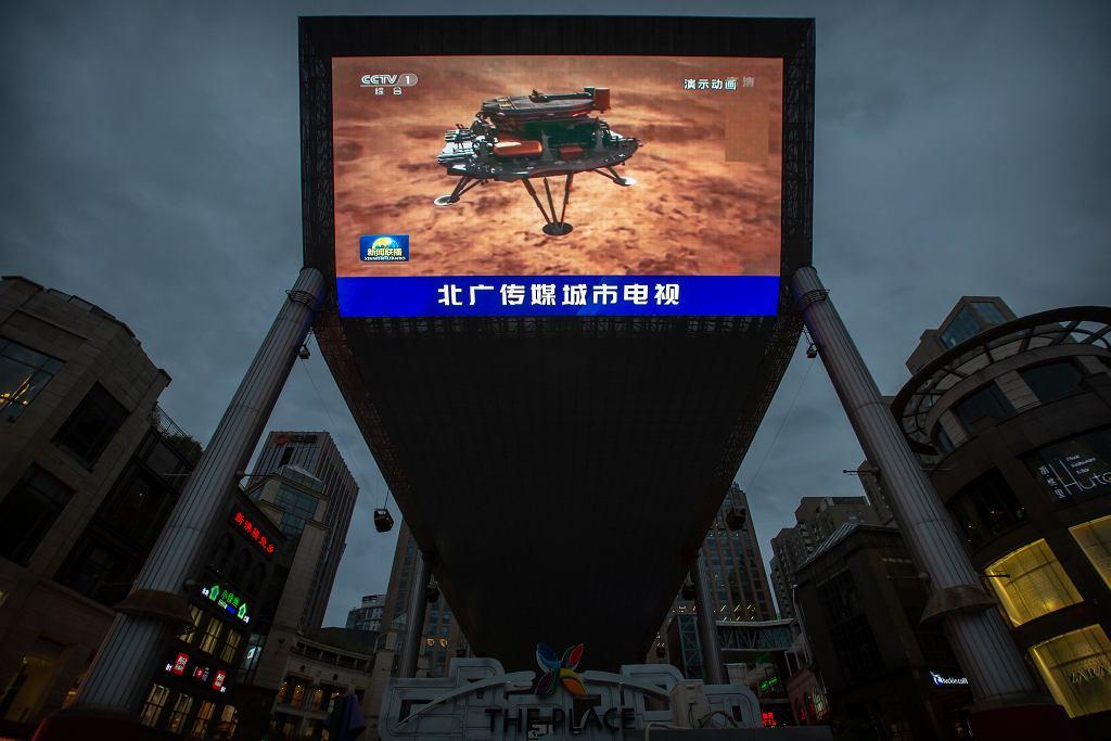 Chiński lądownik z łazikiem na pokładzie wylądował na Marsie